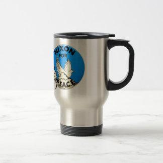 Vintage Nixon For Peace Button Mugs