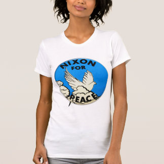 Vintage Nixon For Peace Button Tee Shirts
