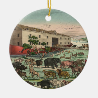 Vintage Noahs Ark Animals Illustration 1882 Christmas Ornament