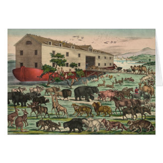 Vintage Noahs Ark Animals Illustration 1882 Greeting Card