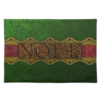 Vintage Noel Christmas Damask Placemats