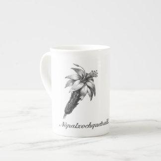 Vintage nopalxochitl flower etching mug