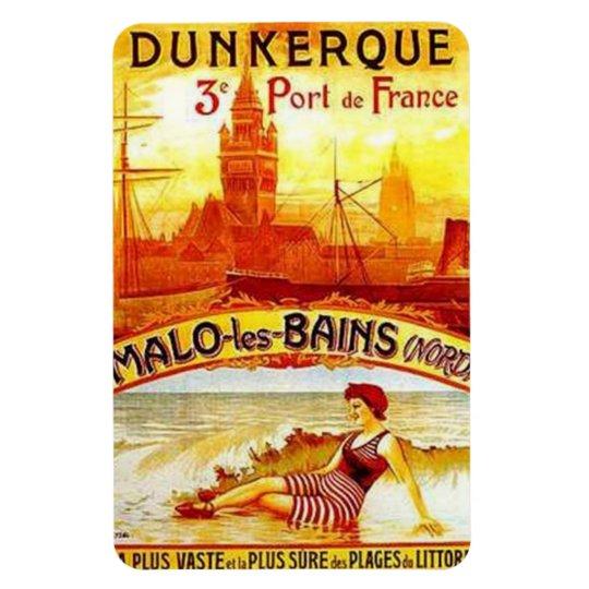 Vintage Nord-Pas-de-Calais, Dunkerque , France - Rectangular Photo Magnet