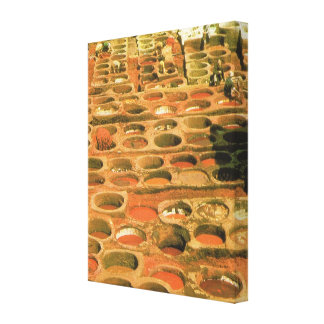 Vintage  North Africa, Morocco, tannery Canvas Print