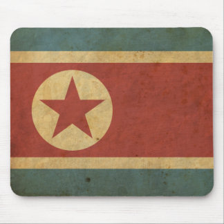Vintage North Korea Flag Mouse Mat