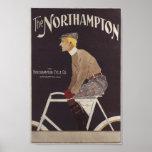 Vintage Northampton Bicycle Ad Art Poster