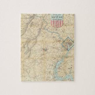 Vintage Northern Virginia Civil War Map (1862) Puzzle
