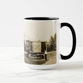 Vintage Northwest Crane Loading Wagon Mug