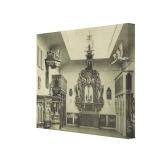 Vintage Norway, Hallands Museum, Church carvings Gallery Wrapped Canvas