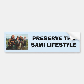 Vintage Norway, Lapland, Sami family 1950 Bumper Sticker