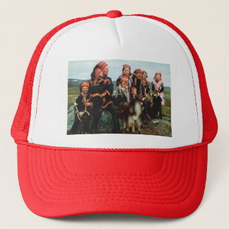 Vintage Norway, Lapland, Sami family 1950 Trucker Hat