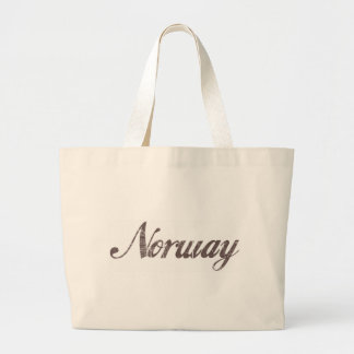 Vintage Norway Large Tote Bag