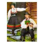 Vintage Norway, Norwegian traditional costume Postcard