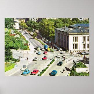 Vintage Norway,  Oslo City centre Poster