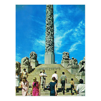 Vintage Norway,  Oslo, Sculpture Park Postcard