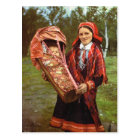 Vintage Norway, Sami mother and baby, Lapland Postcard