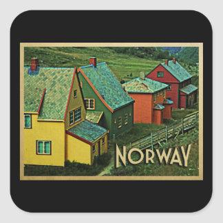 Vintage Norway Square Sticker