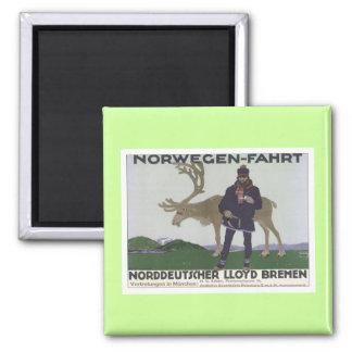 Vintage Norwegen Fahrt Fridge Magnets