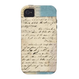 vintage note collage Case-Mate iPhone 4 covers