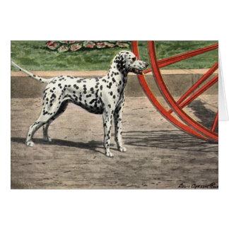 Vintage Notecard-Dalmatian Dog Note Card