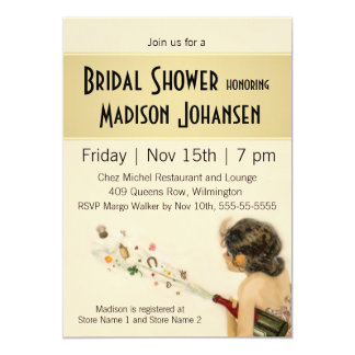 Vintage Nouveau Bridal Shower Card