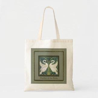 Vintage Nouveau Swans Wedding Party Keepsake Tote