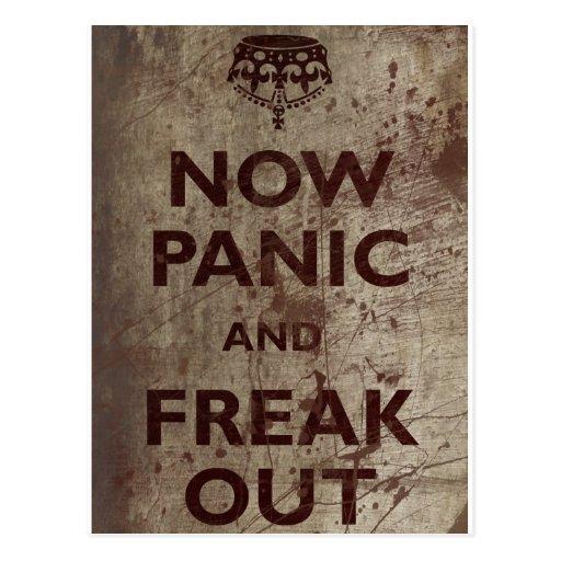 Vintage Now Panic & Freak Out Postcards