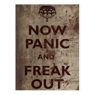 Vintage Now Panic Freak Out Postcards