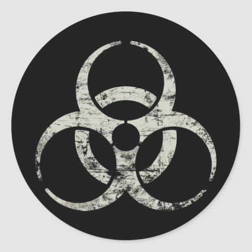 Vintage Nuclear Symbol Classic Round Sticker