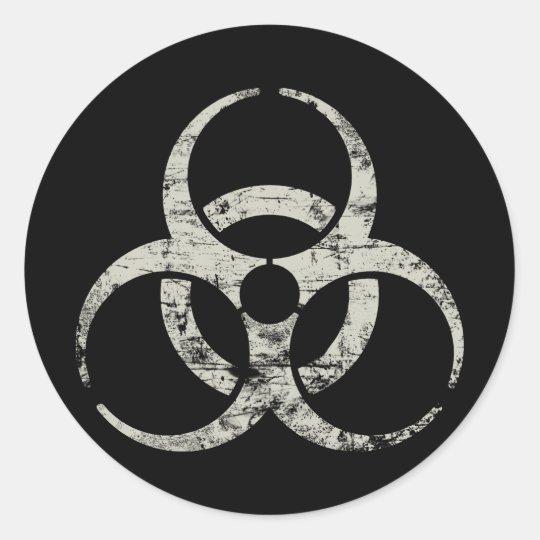 Vintage Nuclear Symbol Round Sticker