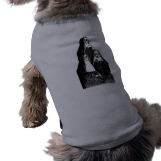 Vintage Nun Illustration Sleeveless Dog Shirt