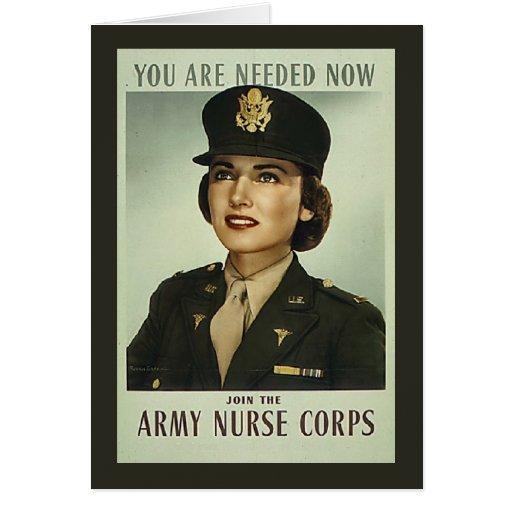 Vintage Nurse Corps Card