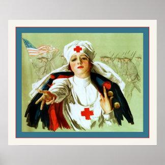 Vintage Nurse Poster ~ World War 1