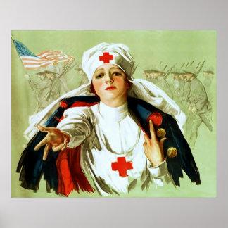 Vintage Nurse Poster ~ World War 1.