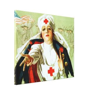 Vintage Nurse Poster ~ World War 1 Stretched Canvas Prints