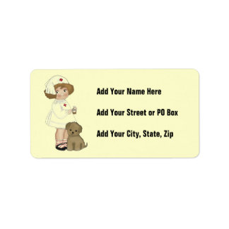 Vintage Nurse With Puppy T-shirts and Gifts Label