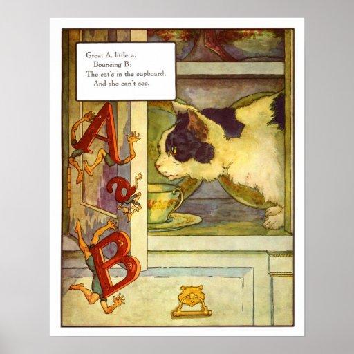 Vintage Nursery Print- Great 'A', Little 'a'