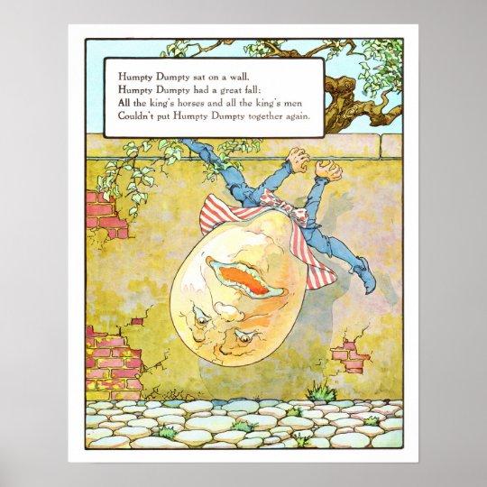Vintage Nursery Print- Humpty Dumpty Poster