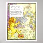 Vintage Nursery Print- Lion and Unicorn Poster