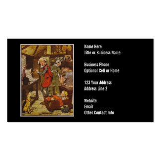 Vintage Nursery Rhyme Illustration Pack Of Standard Business Cards