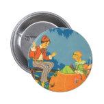 Vintage Nursery Rhyme, Peter Peter Pumpkin Eater Buttons