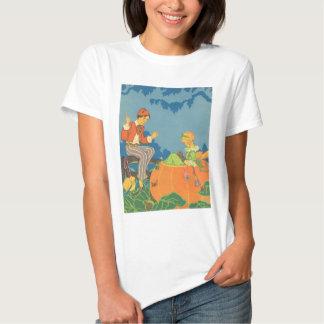 Vintage Nursery Rhyme, Peter Peter Pumpkin Eater Tee Shirt