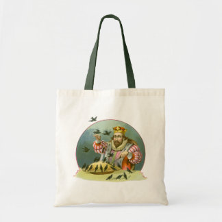 Vintage Nursery Rhyme, Sing a Song of Sixpence Budget Tote Bag
