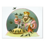 Vintage Nursery Rhyme, Sing a Song of Sixpence Invitation Card