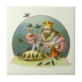 Vintage Nursery Rhyme, Sing a Song of Sixpence Tiles