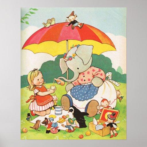 Vintage Nursery Rhymes, Mabel Lucie Attwell Poster