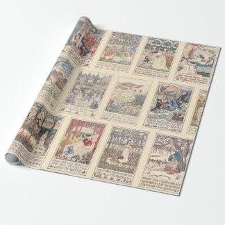Vintage Nursery Rhymes Wrapping Paper