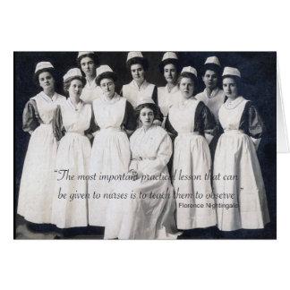 Vintage Nursing Class Card