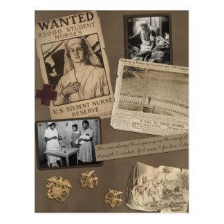 "Vintage ""Nursing"" Scrapbook Postcard"