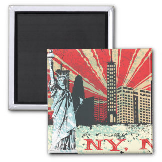 Vintage NY in Red Magnet